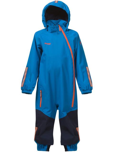 Bergans Kids Lilletind Coverall LT Sea Blue/Navy/Koi Orange